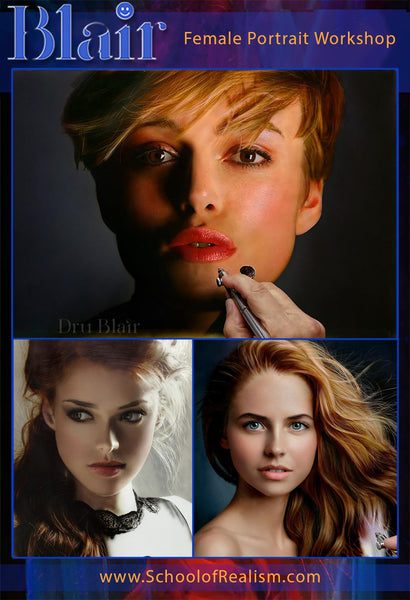 Dru Blair: Airbrush - Portraits </b><p>March 21-24, 2019 p</b>