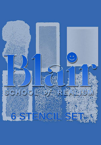Blair  Organic Edge™ stencil series (Set ALPHA)