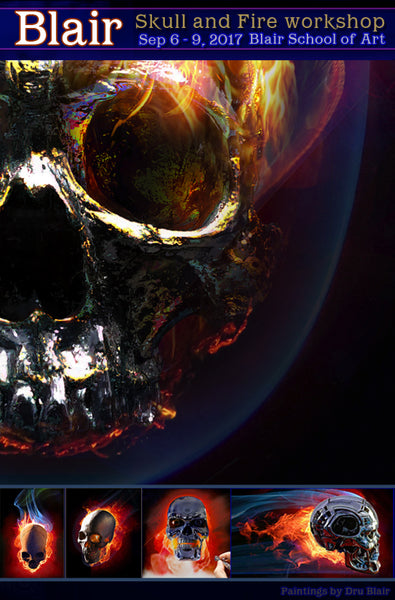 Dru Blair: Airbrush - Chrome Skull with Fire </b><p>Coming in 2018</p>