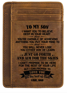 Dad & Son - Engraved Card Holder