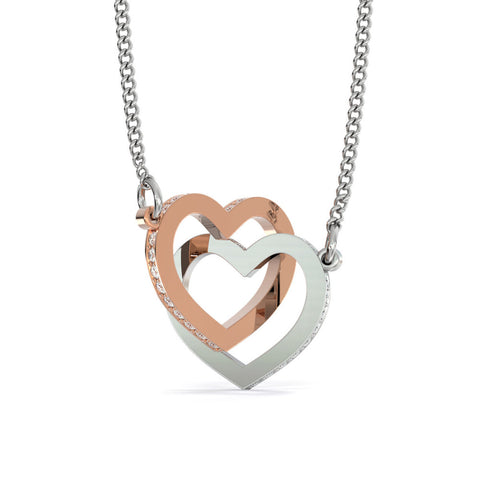 (2) Interlocking Hearts Necklaces GEM