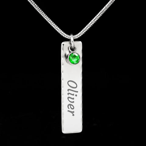 Birthstone Name Necklace