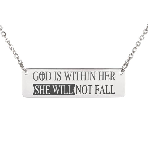 God is Within Her Necklace