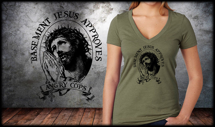 Basement Jesus V-Neck