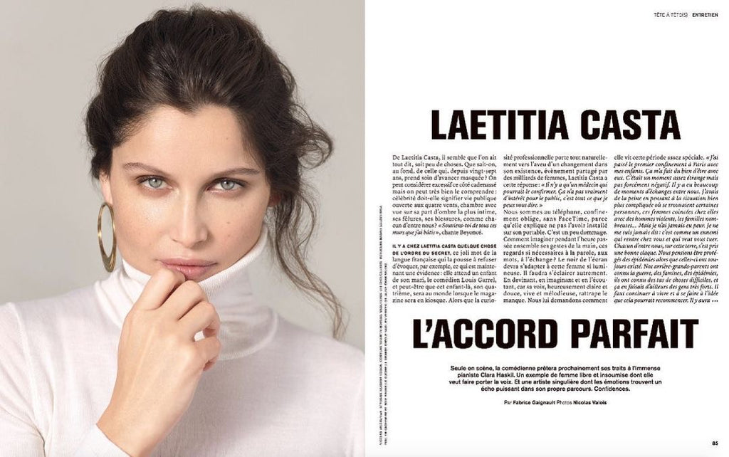 Laetitia Casta en interview dans le Marie Claire Collector de Mars 2021