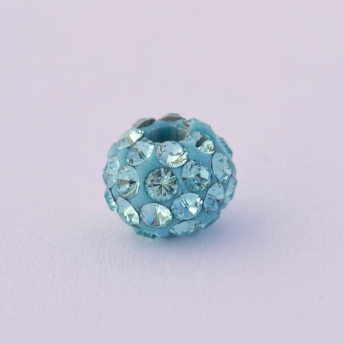 Beaded Turquoise Ball 6 mm