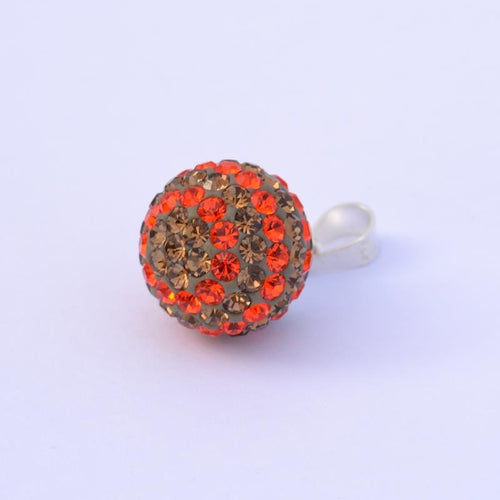 Red Gray Ball Pendant 12 mm