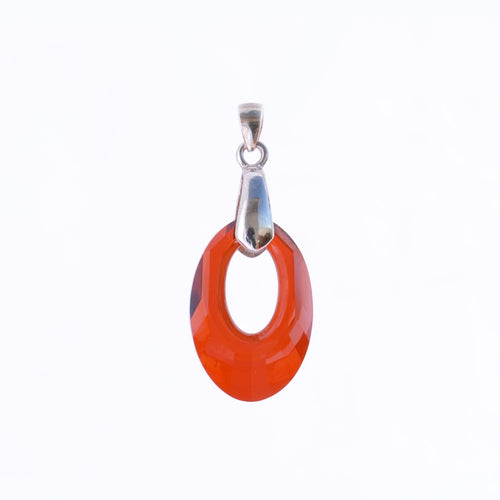 Red Oval Pendant 20mm