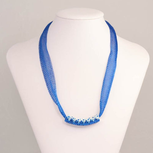 Tinaneo with Blue Bead Necklace