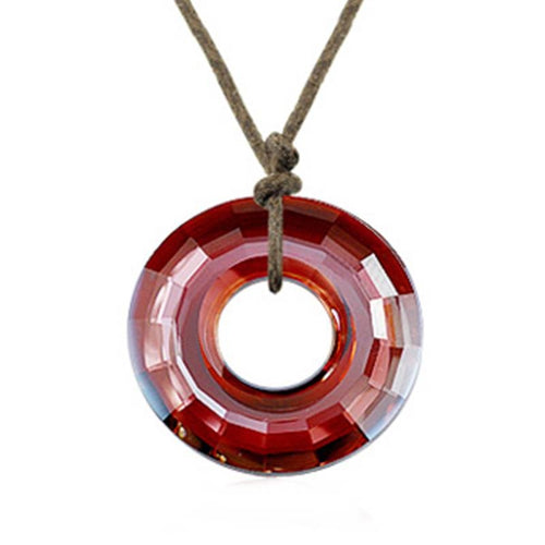 Red Donuts Necklace
