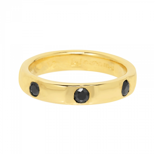 Ring black zirconitas embedded - 17.8 mm