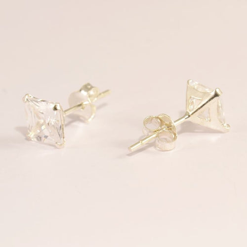 Cubic Zirconia Squared Earrings