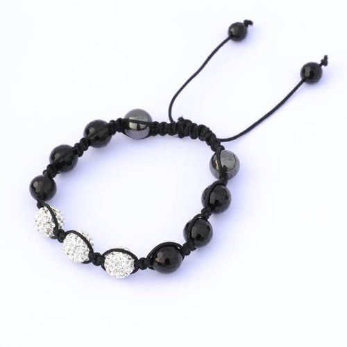 Bracelet with Black and White Balls