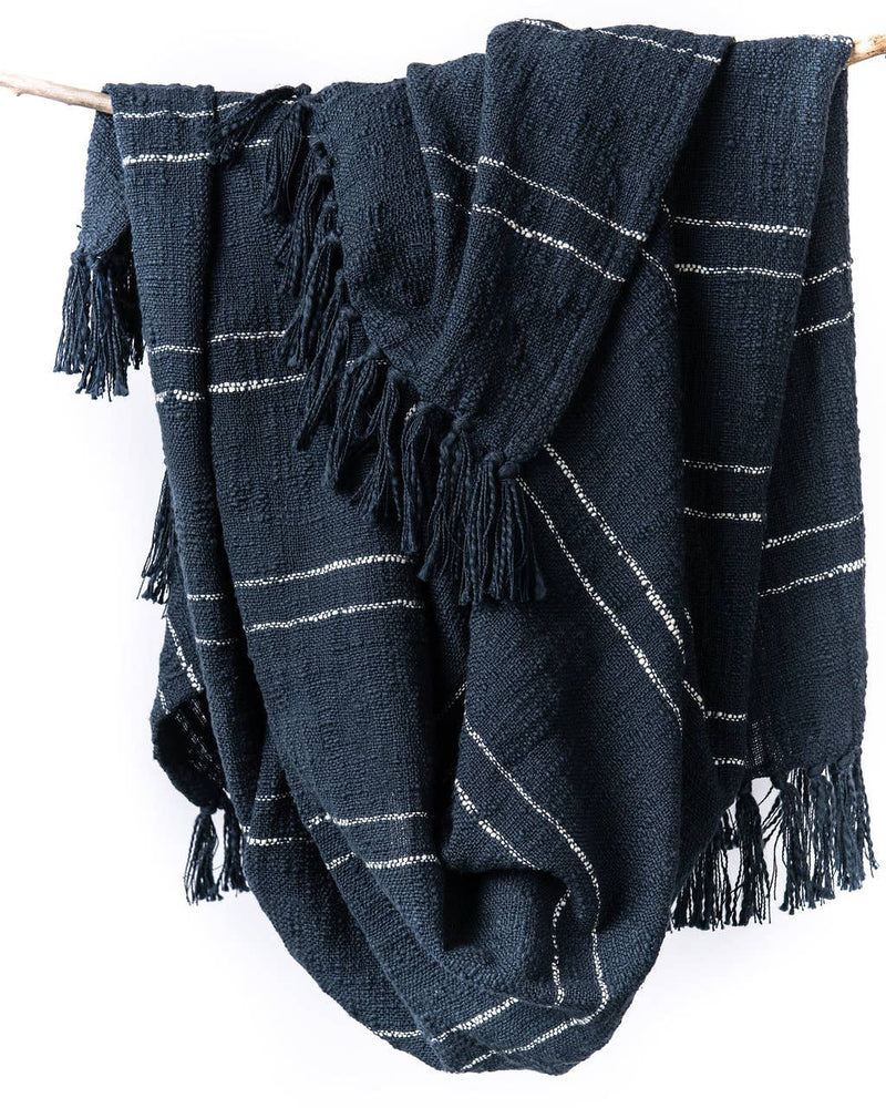 Nila Handwoven Cotton Tassel Throw