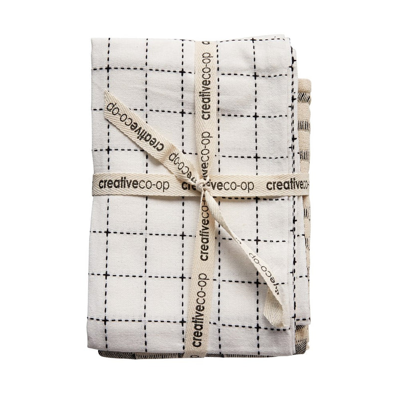 Cotton Tea Towels, Set of 3