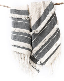 Handwoven Serenity Tassel Throw