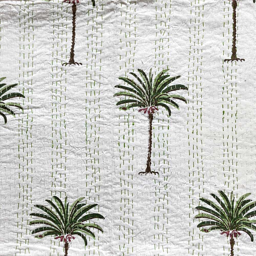 Palm Tree Kantha Throw