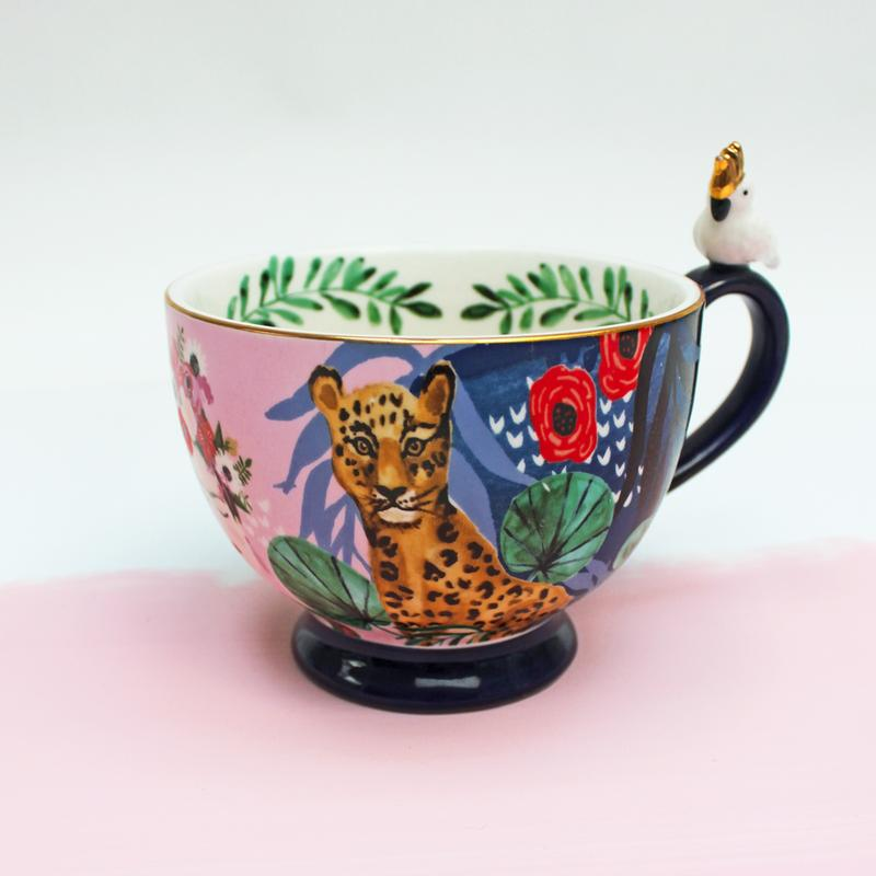 Illustrated Tropical Frida Kahlo Mug