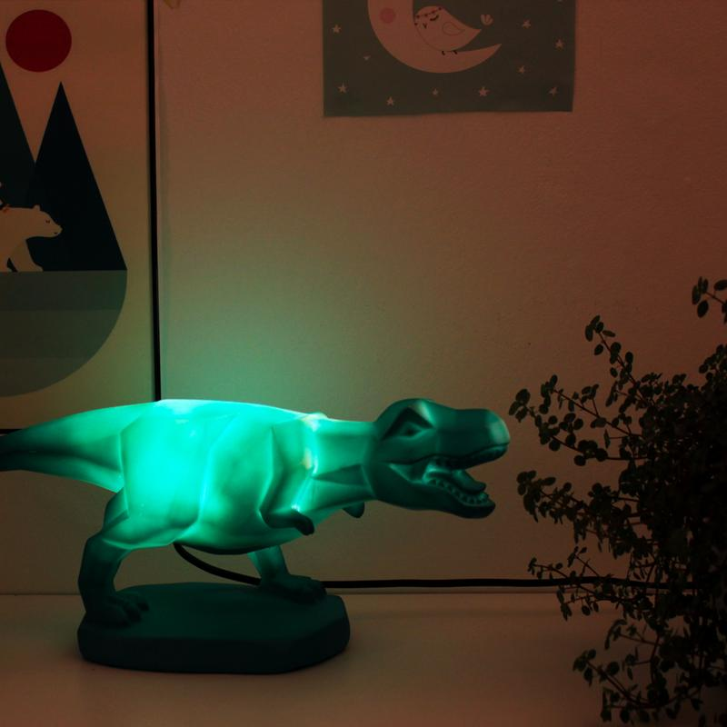 Origami T-rex Dinosaur Table Lamp