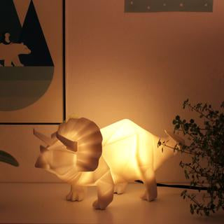 Origami Triceratops Dinosaur Table Lamp