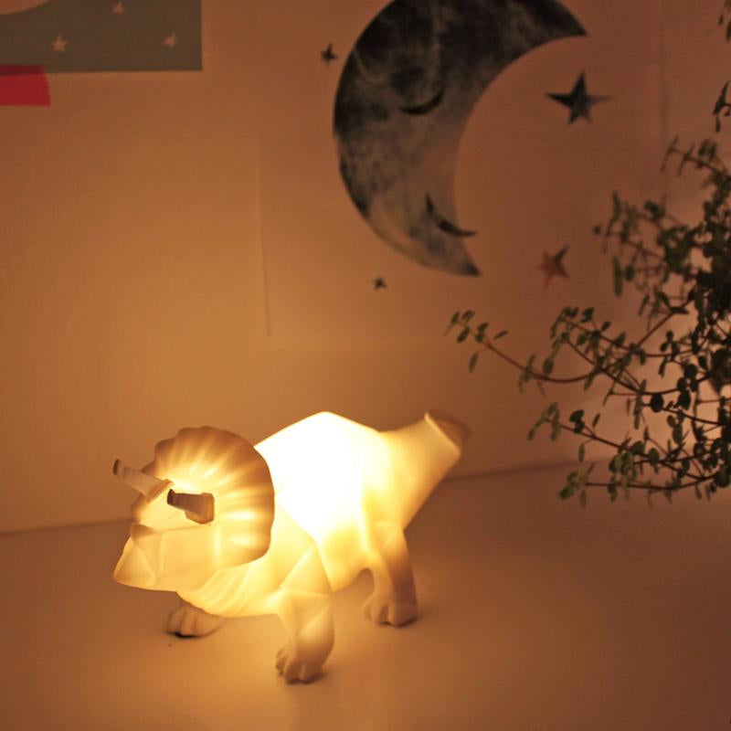 Origami Triceratops Dinosaur Mini LED Light