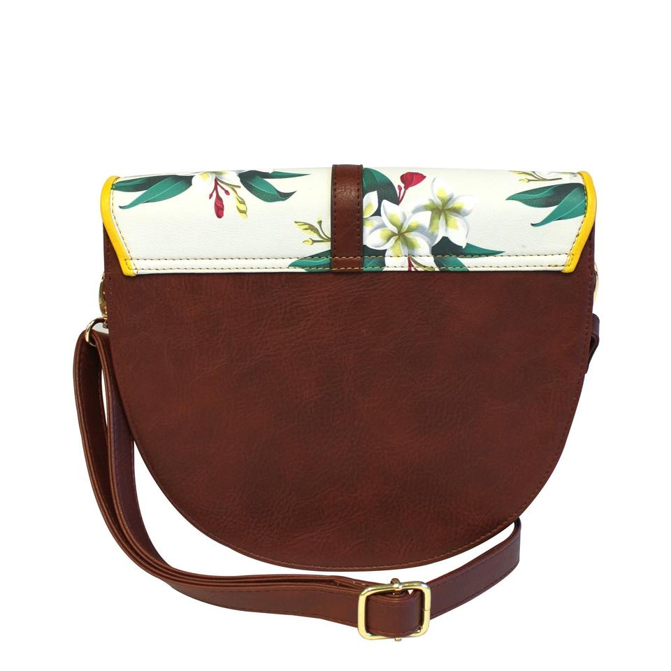 Frida Kahlo Faux Leather Saddle Bag