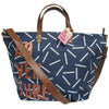 Blue Faux Leather Jet Lag Adventure Weekend Bag