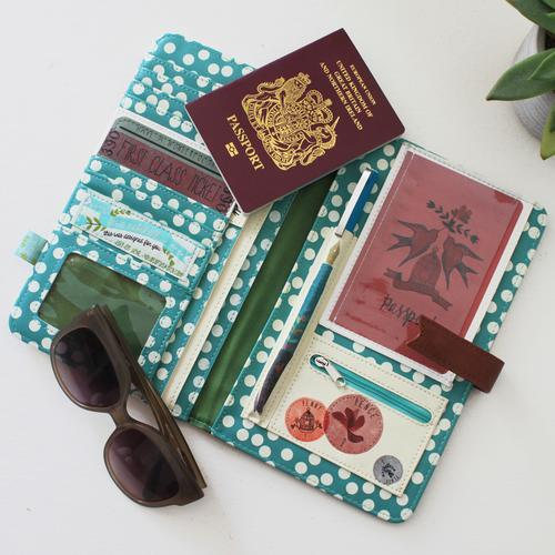 In a Nutshell Faux Leather Travel Wallet