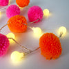 Multi Coloured Pom Pom String Lights