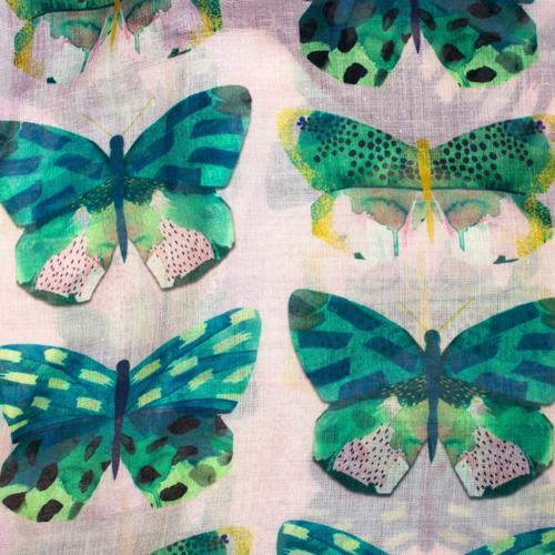 Papillon Butterfly Pink Scarf