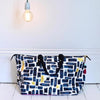 Dark Blue Faux Leather Zebra Handbag