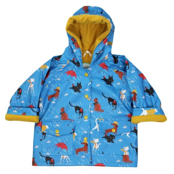 Children's Cat And Dog Print Raincoat