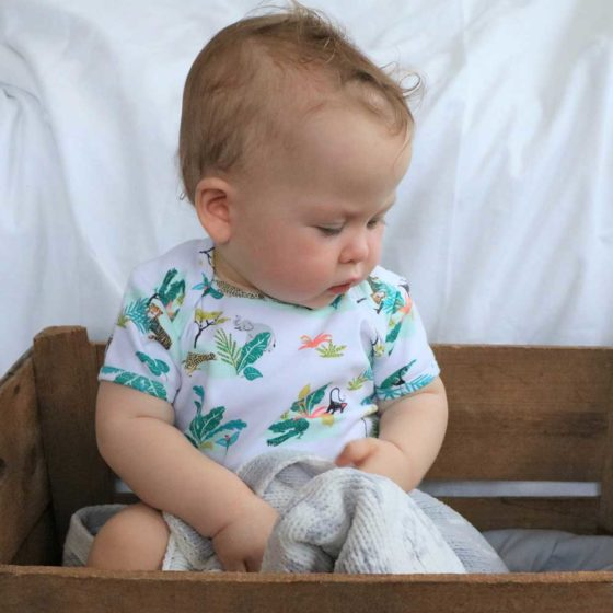 Safari Print Baby Grow