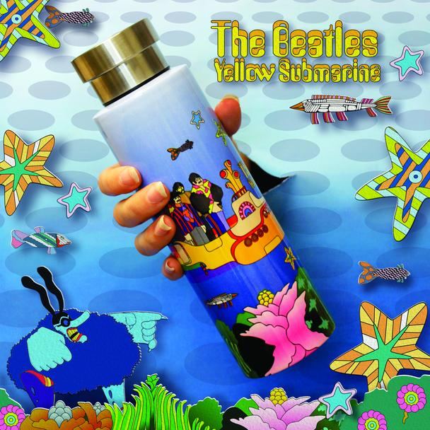 The Beatles Yellow Submarine Stainless Steel Flask - Sea Scene