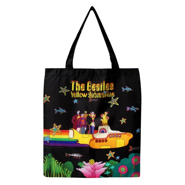 The Beatles Yellow Submarine Foldaway Recycled Tote Bag