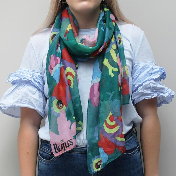 The Beatles Psychedelic Yellow Submarine Scarf