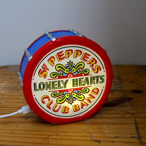 The Beatles Sergeant Peppers Lonely Hearts Club Drum Mini Lamp