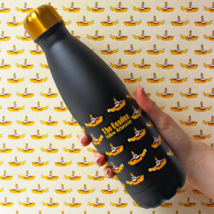 The Beatles Yellow Submarine Stainless Steel Flask - Black