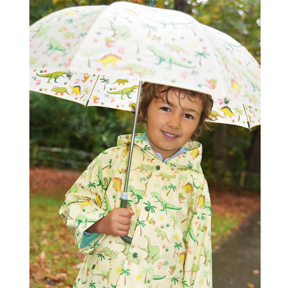 Boys Dinosaur Print Raincoat
