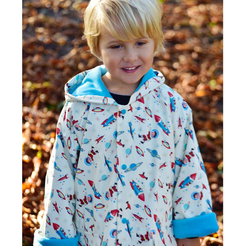 Boys Space Print Raincoat