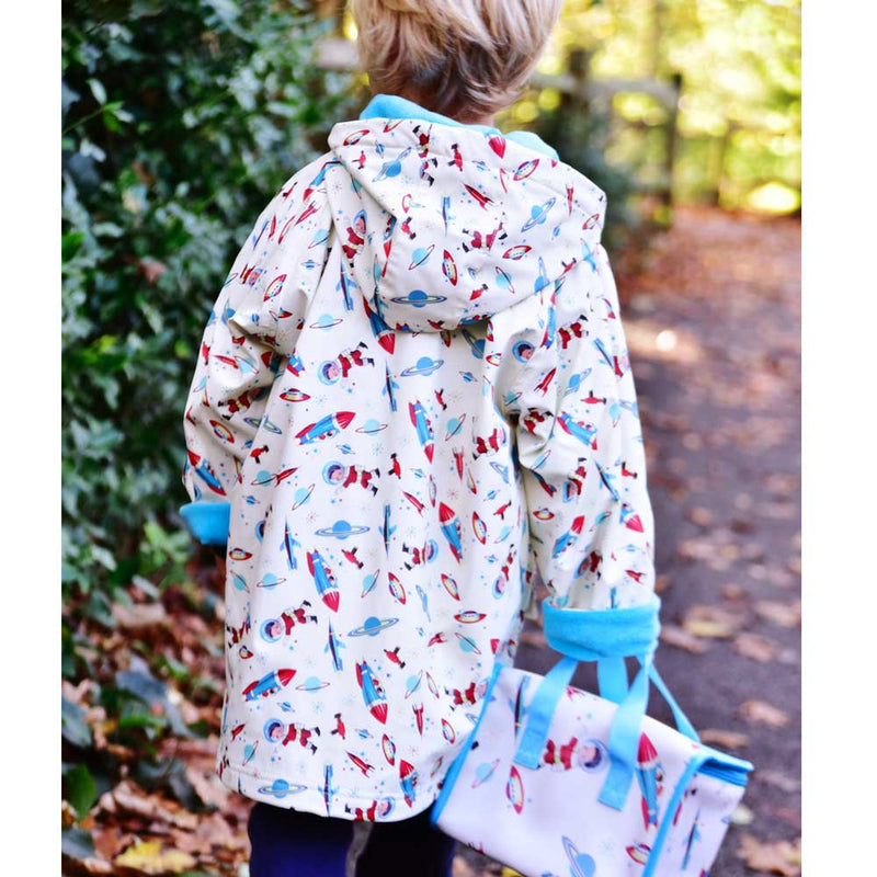 Children's Space Print Raincoat
