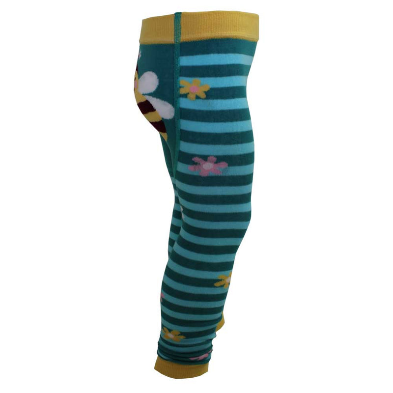 Girl's Blue Bumble Bee Leggings