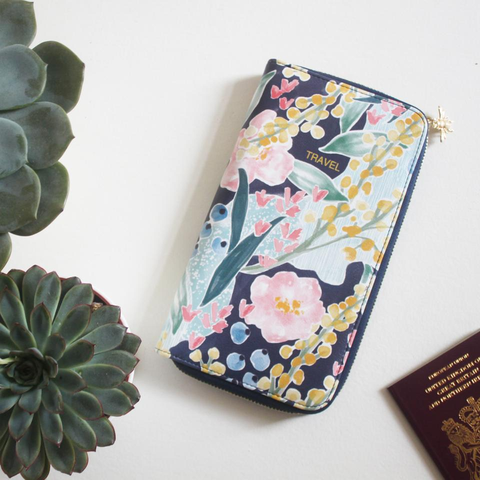 Garden of Eden Faux Leather Travel Wallet