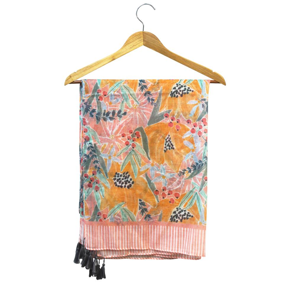 Pink and Yellow Floral Eden Scarf