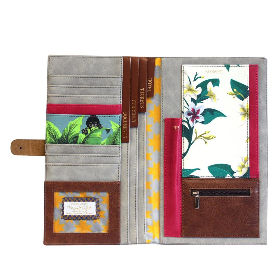 Frida Kahlo Faux Leather Travel Wallet