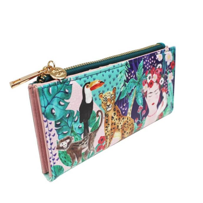 Frida Kahlo Tropical Faux Leather Wallet