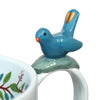 Blue Bird Floral Teacup