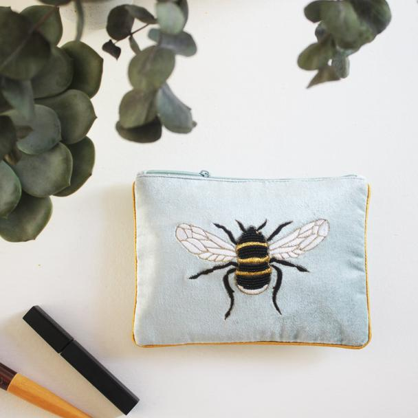 Embellished Bee Cosmetics Pouch