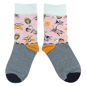 Pink Insect Eden Socks