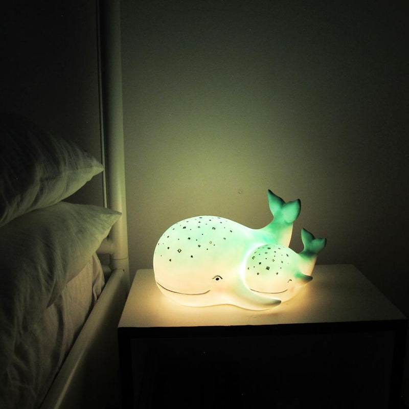 Mother and Baby Whale Lamp